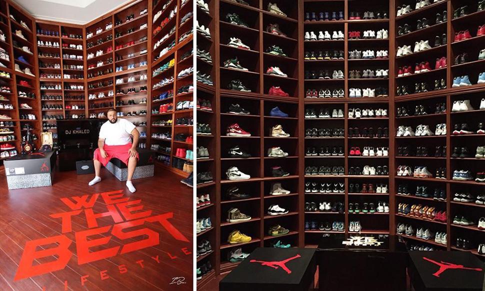 DJ Khaled és a sneaker gyűjteménye