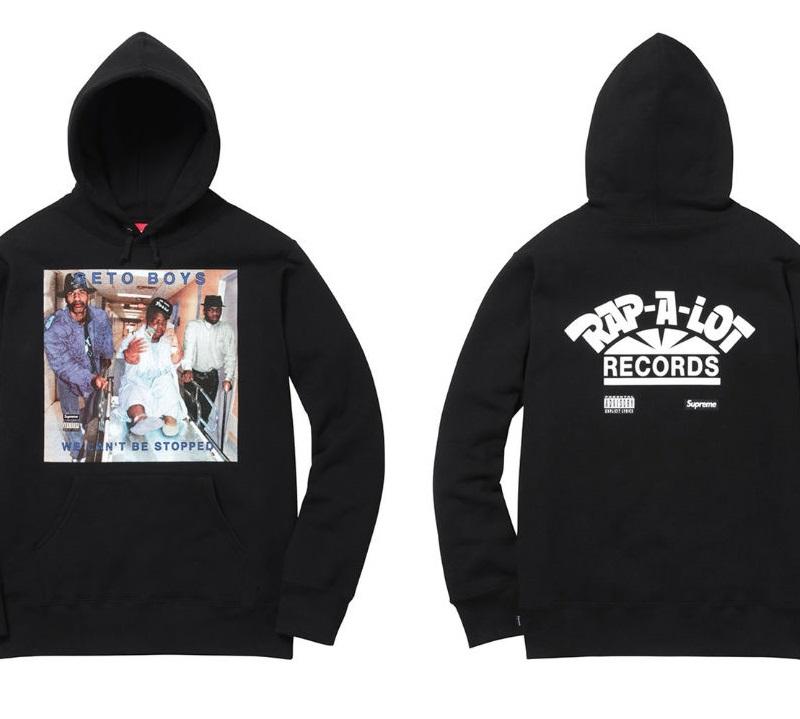 Supreme x Rap-A-Lot-Records Hooded Sweatshirt Black, képforrás: xxlmag