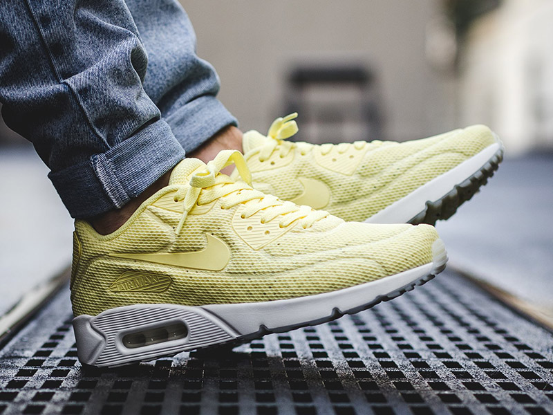 Nike Air Max 90 Ultra 2.0 'Breeze' (898010-700 Lemon Chiffon/Lemon Chiffon-Summit White)
