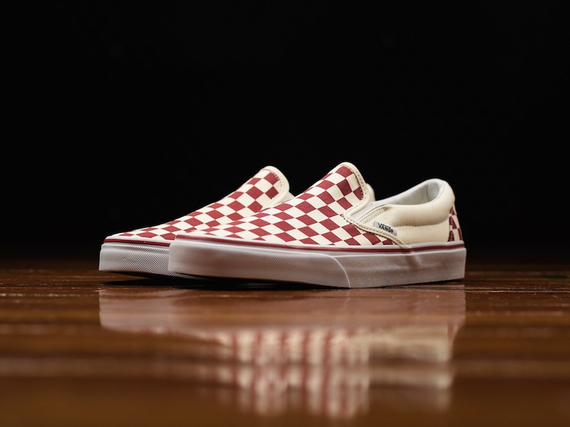Vans Classic Slip-On Checker piros-fehérben