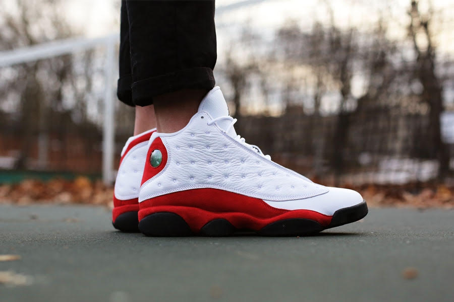 Air Jordan 13 lábon