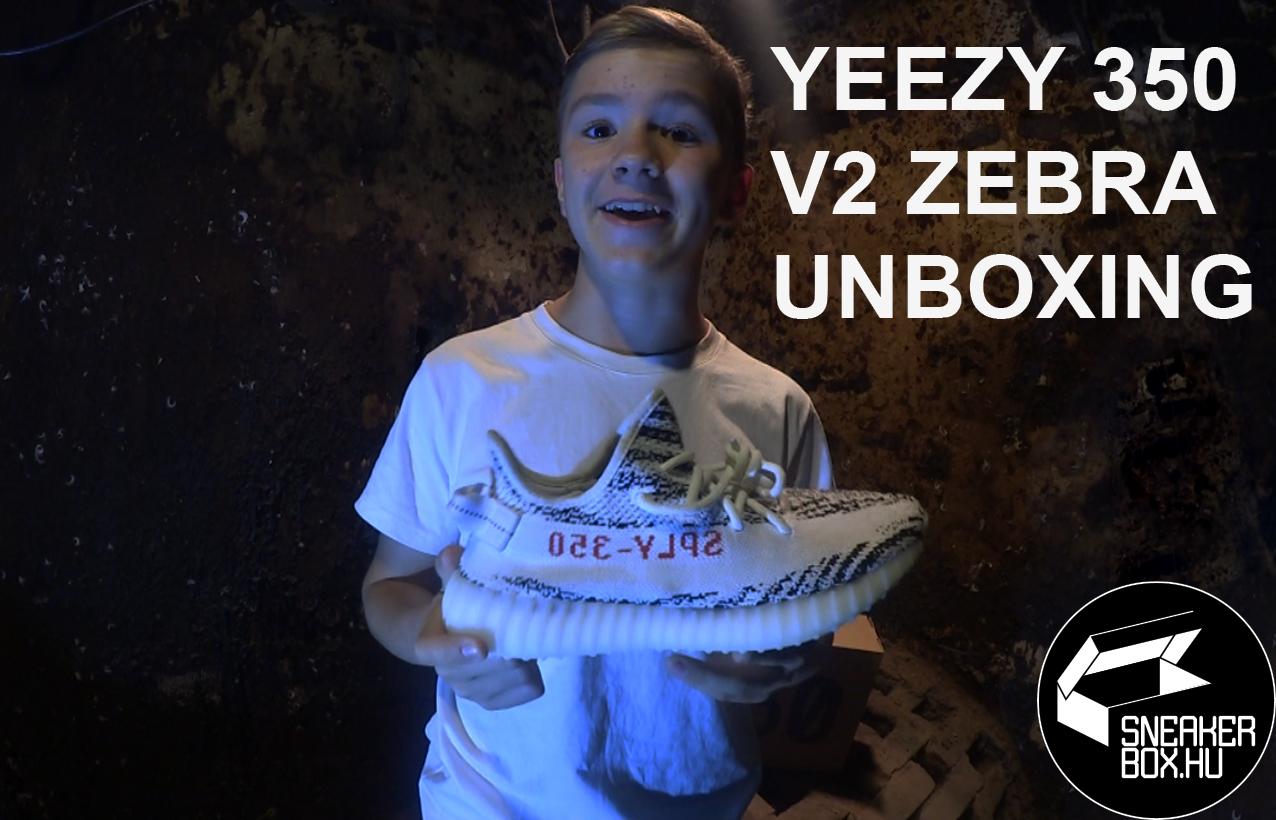 """Dablty Yeezy 350 v2 """"Zebra"""" unboxing"""