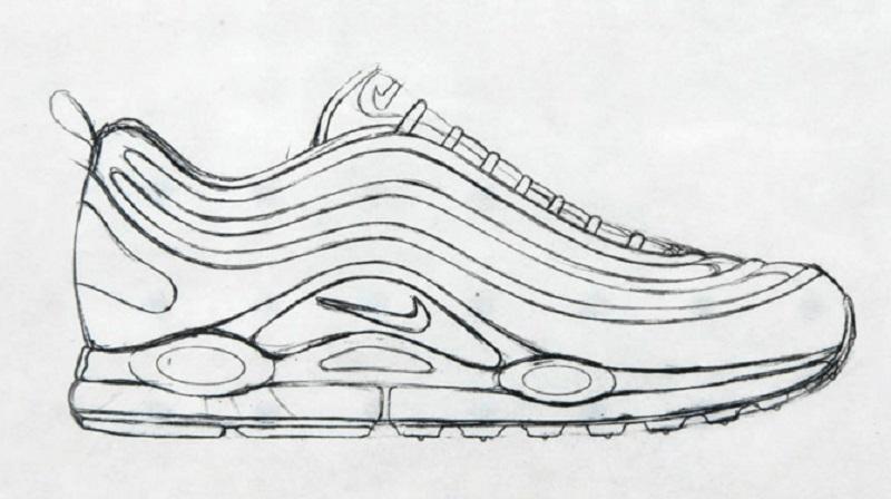 Nike AM97 vázlat
