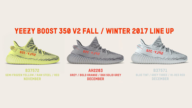 adidas Yeezy Boost Fall/Winter 2017 Lineup
