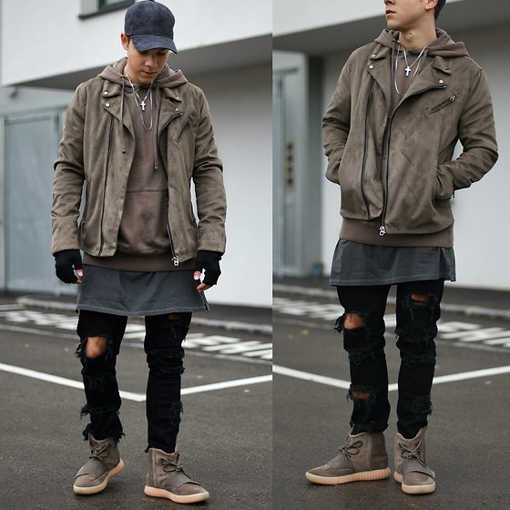 Outfit Yeezy 750 'Chocolate' sneakerrel