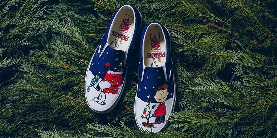 """Peanuts Vans Slip-on """"Christmas tree"""""""