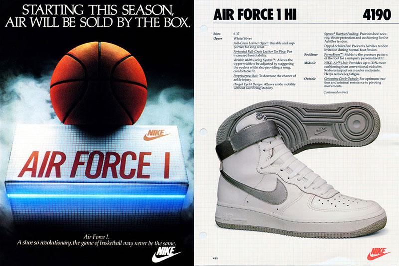 Nike Air Force 1 reklám 1982-ből