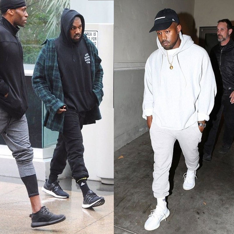 Kanye West - betűrt melegítőnadrág
