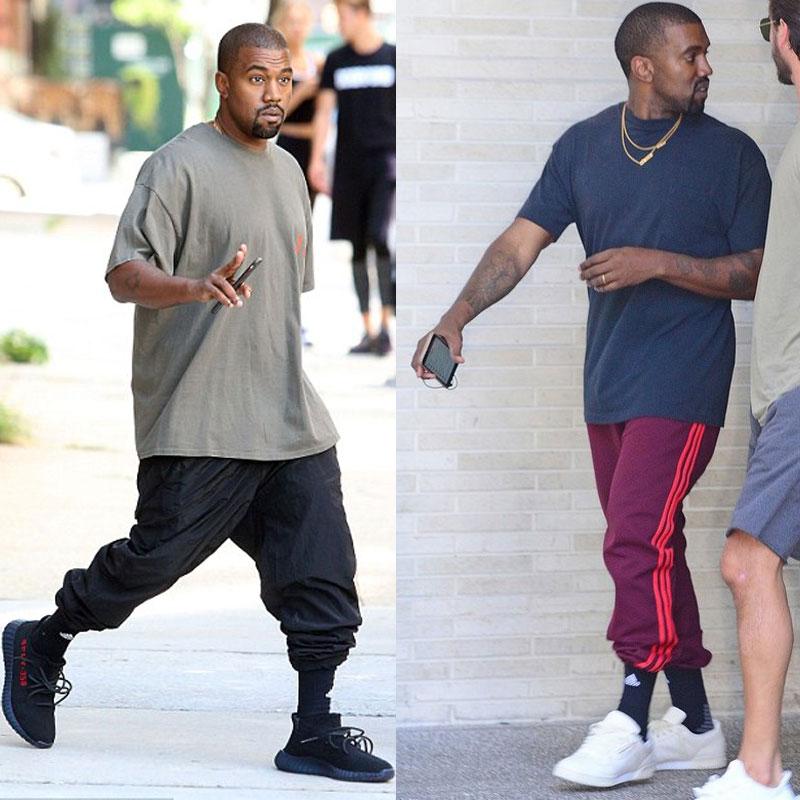 Kanye West - zokniba tűrt nadrág