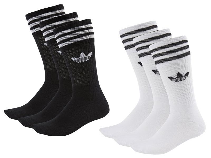 """adidas Crew zokni a klasszik """"háromleveles"""" Trefoil logóval"""