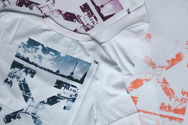 off white le bon marche pop up cafe t shirts