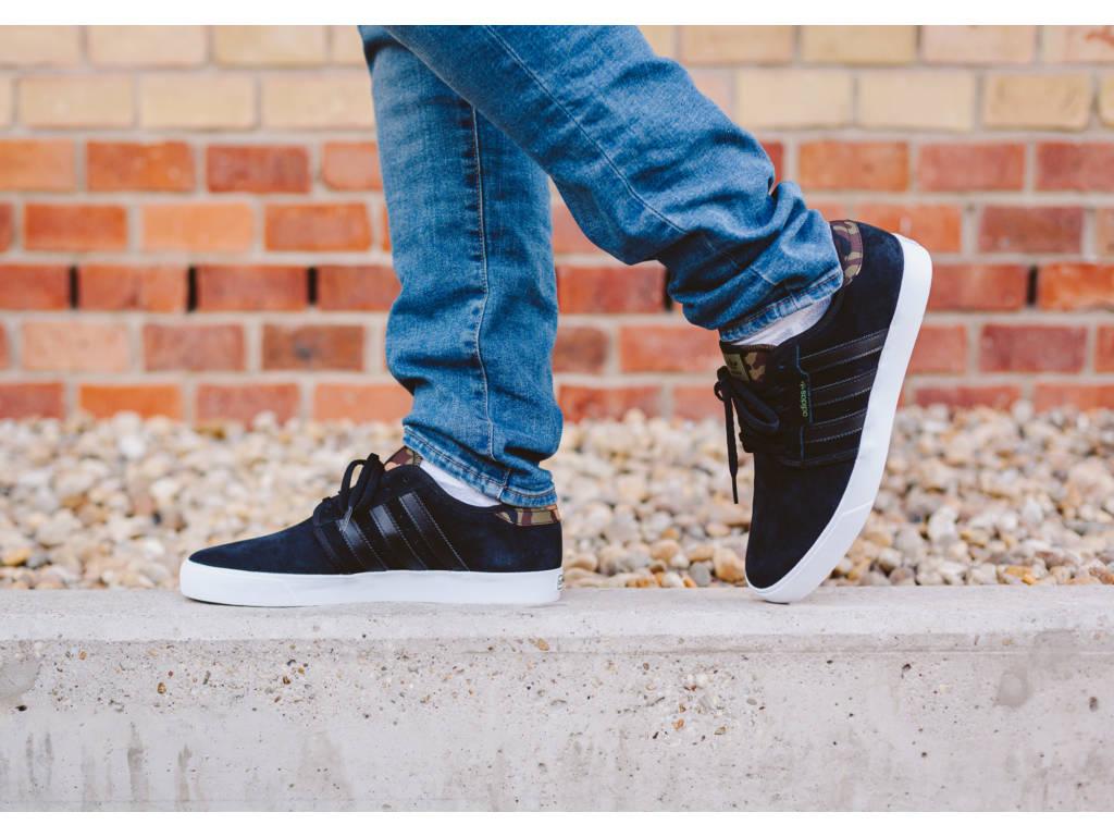 adidas Seeley fekete/camo deszkás cipő (Core Black / Running White B27343) - 13.990 FT