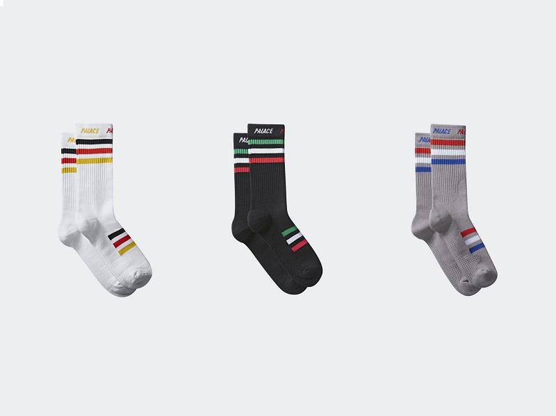 A három ország személyre szabott Palace x adidas zokni