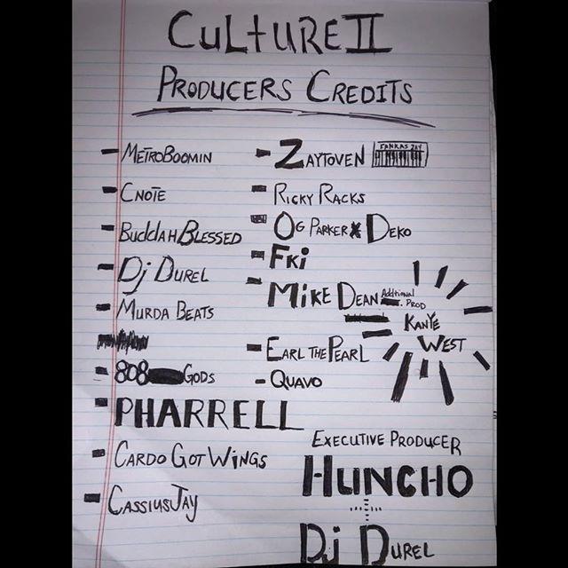 Migos Culture 2 Producer List