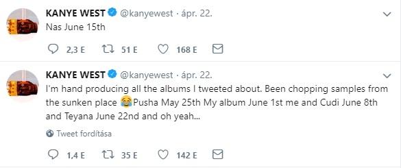 Kanye New Album Tweets