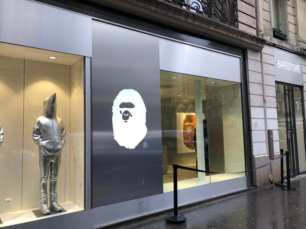 Párizsi sneaker store check: BAPE Paris (34 Rue de la Verrerie)