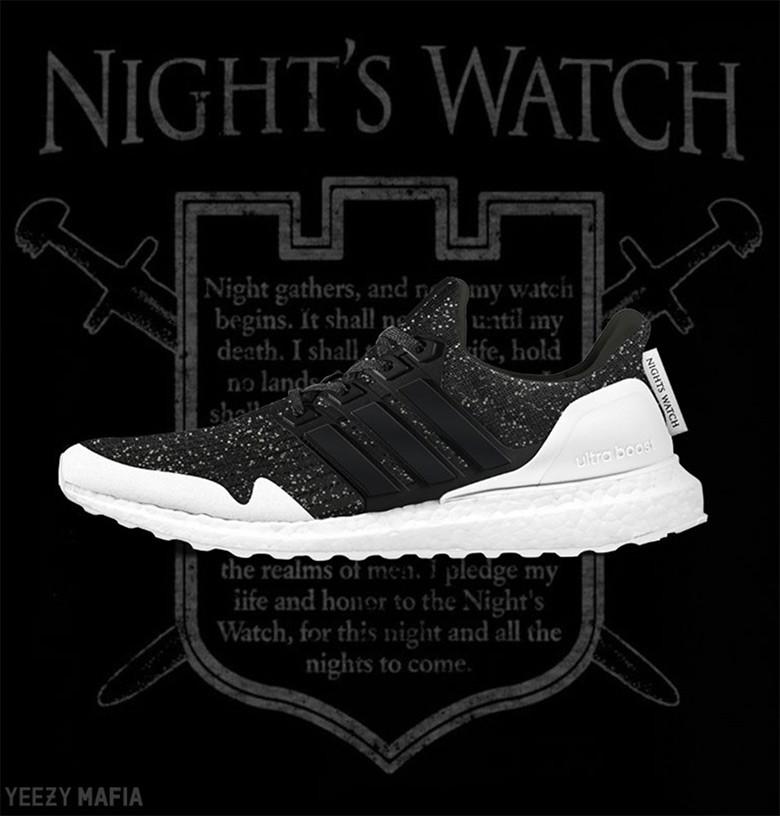 """ultra boost """"night's watch"""""""
