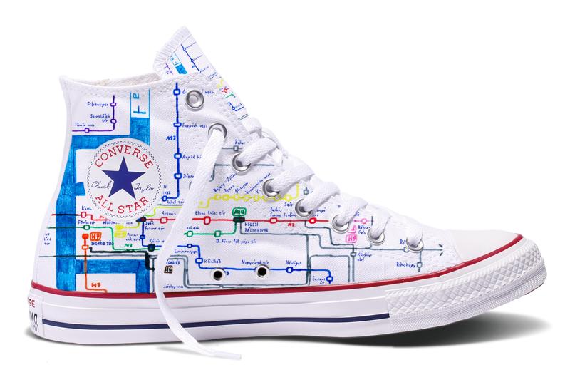 MAAPPI x Converse - Budapest közlekedési térképe sneakeren!