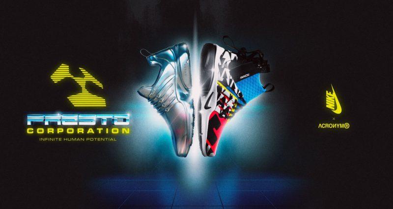 Nike Air Presto Mid Utility x Acronym ® - régi modell, újszerű formában