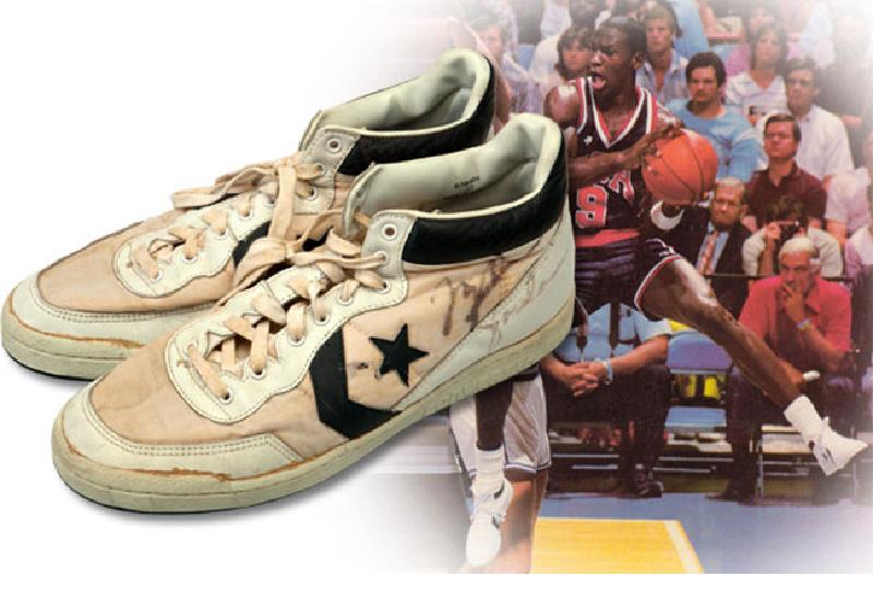 Az 1984-es Olimpián még Converse cipőben kosarazott Jordan.