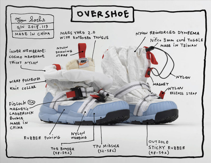 Nike x Tom Sachs Mars Yard Overshoe Features
