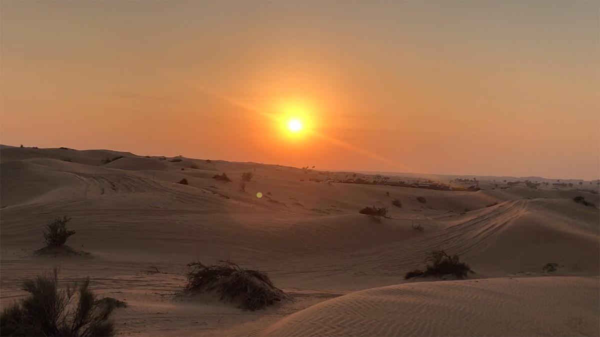 A dubaji sivatag prémium homokkal