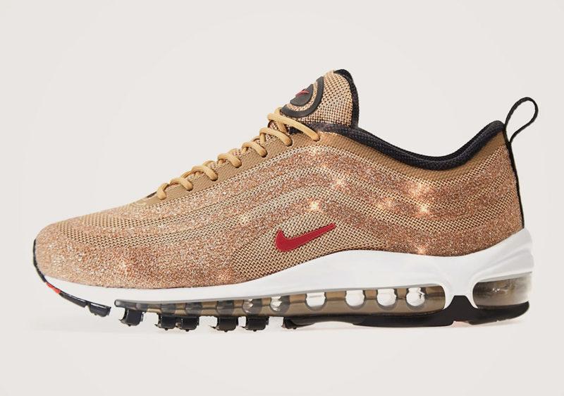 """Nike WMNS AM97 LX Swarovski """"Metallic Gold"""" - 2018-es megjelenés"""