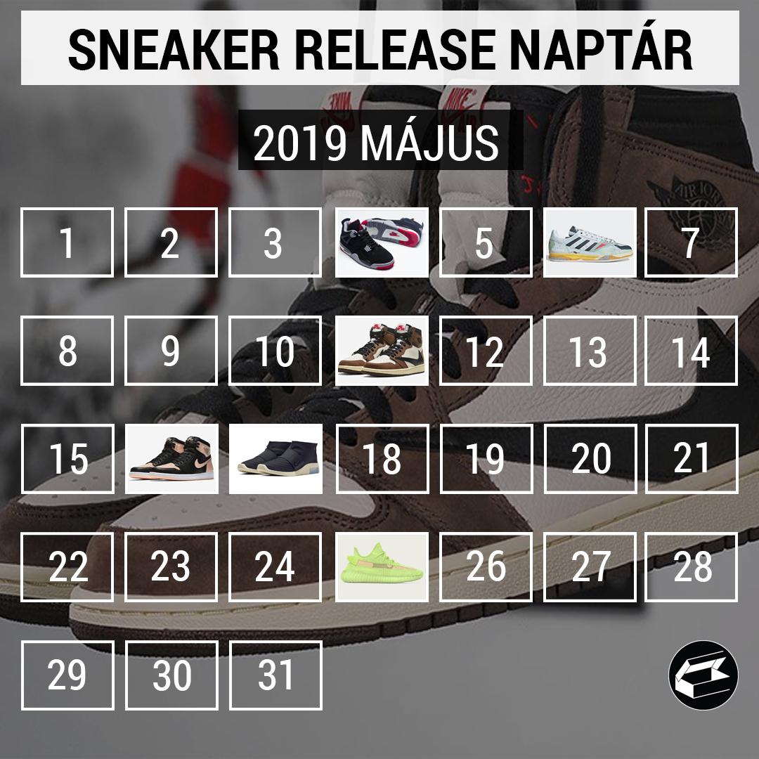 2019 májusi sneaker megjelenések