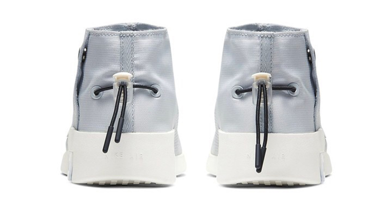 Nike Air Fear of God 180 Moccasin& Pure Platinum/Black-Sail hátulról