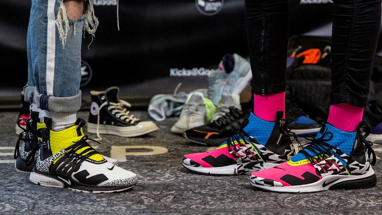Gergő és Dávid Acronym x Nike Presto sneakerben a Kicks R Good 420-on