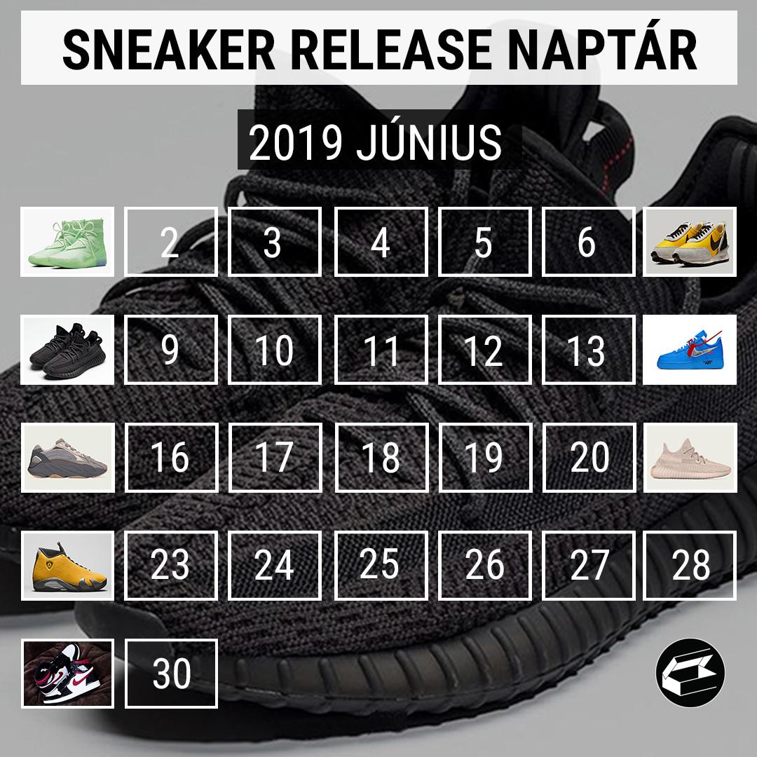 Sneaker Release Naptár: a 2019 júniusában droppoló cipők