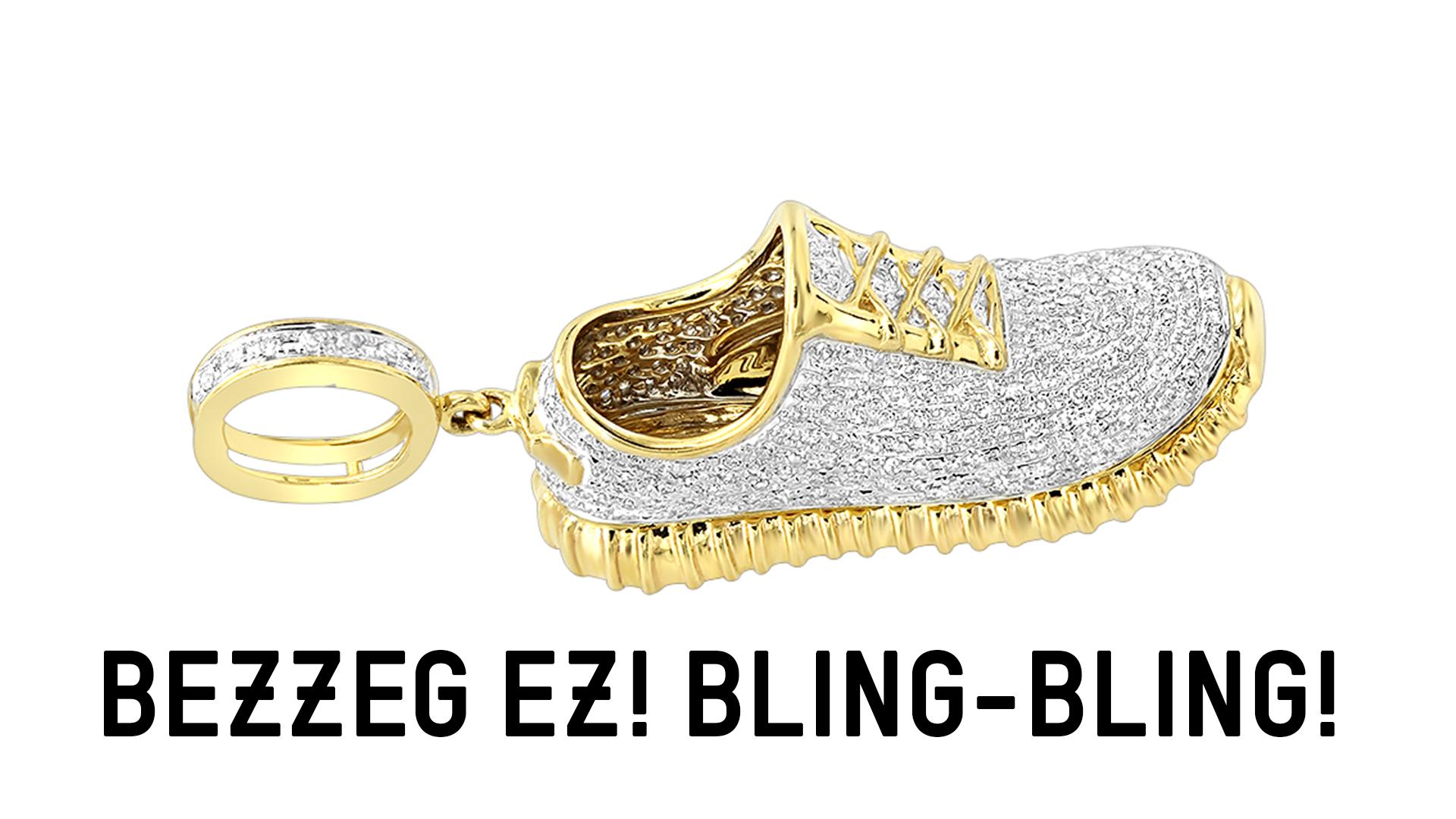 Aranyos-gyémántos Yeezy