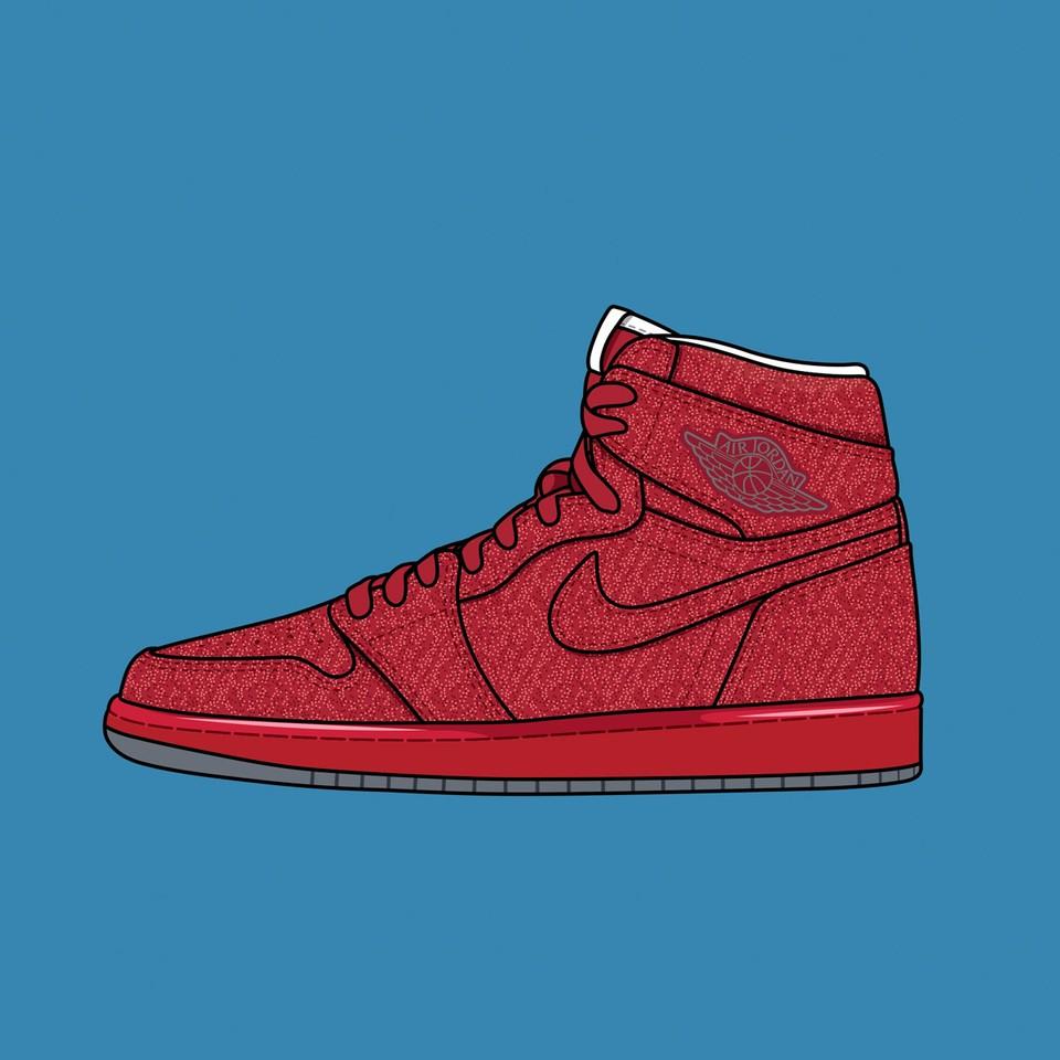 """Nike Air Jordan 1 """"Legends of Summer Red Glitter"""""""