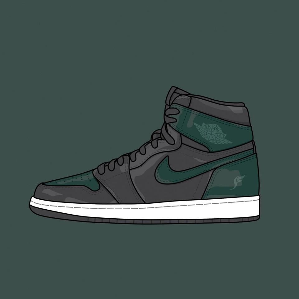 "Solefly x Nike Air jordan 1 ""Art Basel Black"""