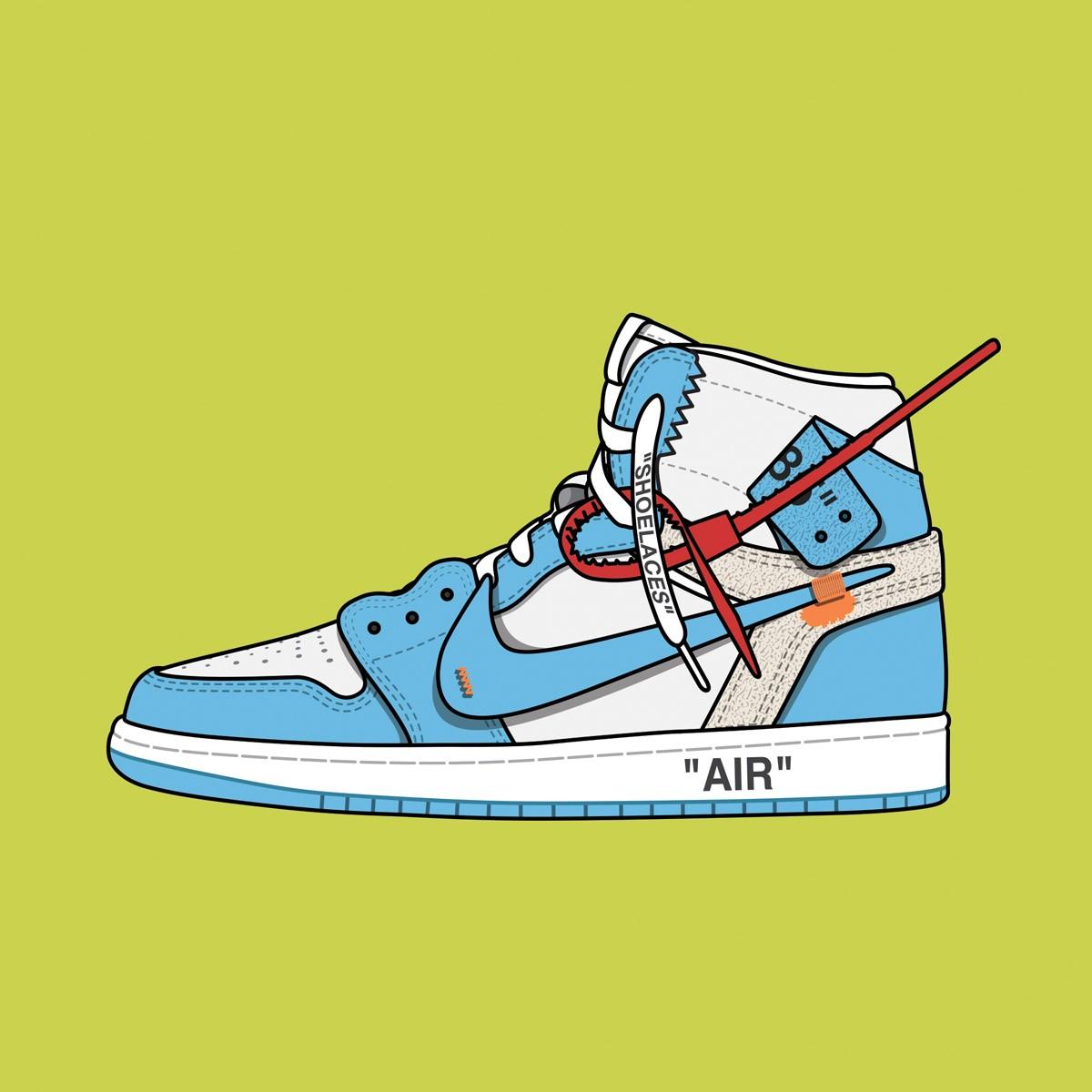 "Off White™ Nike Air Jordan 1 ""UNC"""