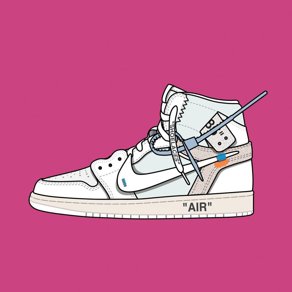 "Off White™ Nike Air Jordan 1 ""White"""