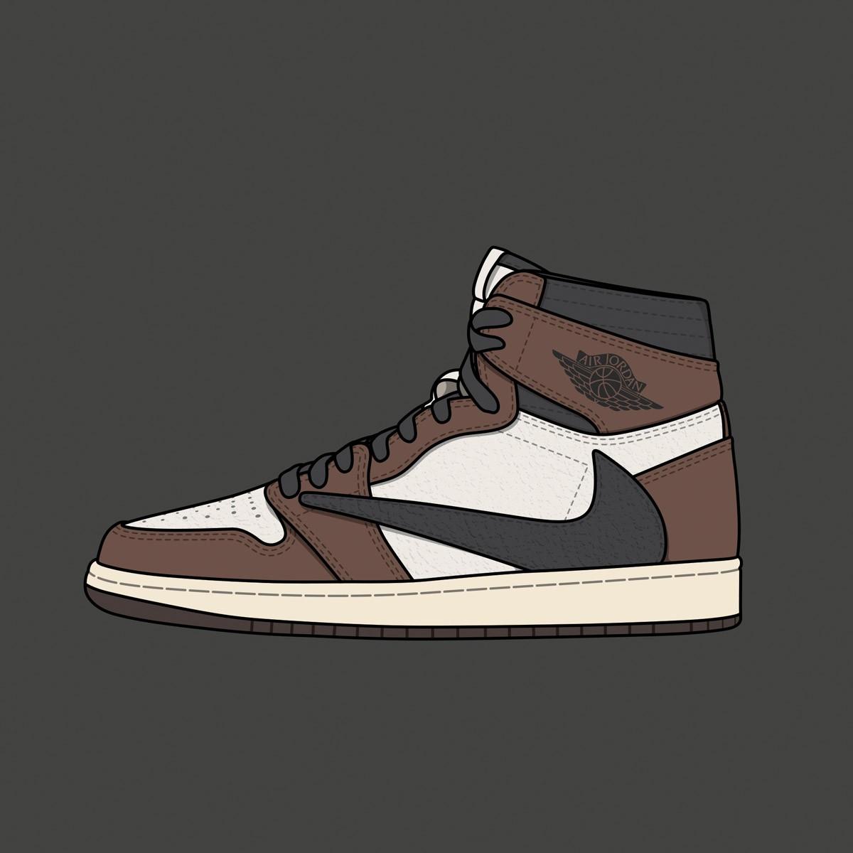 "Travis Scott x Nike Air Jordan 1 ""Reverse Swoosh"""