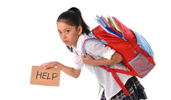A nehéz hátizsák nem jó - főleg ha iskolatáska!