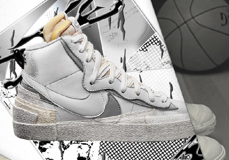 Nike Sacai Blazer Mid White