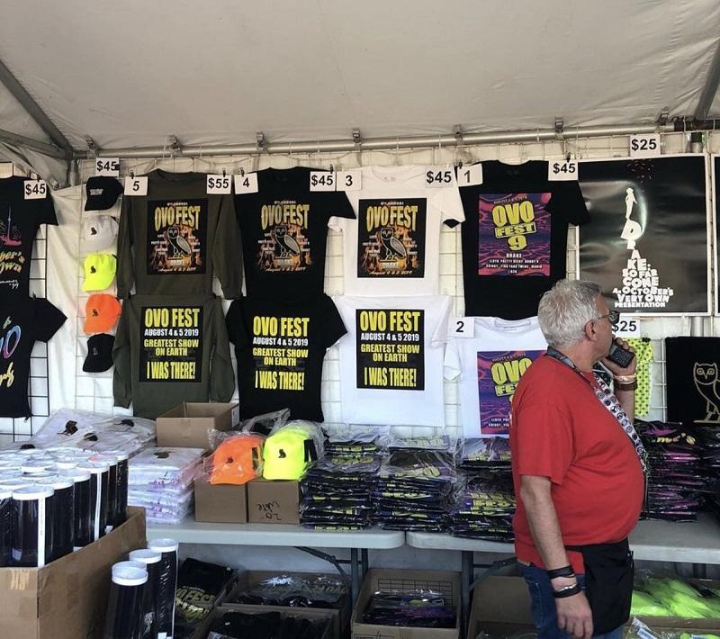 OVO Festival Merch Stand