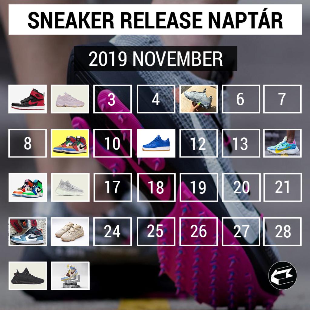 Sneaker Release Calendar – 2019 november