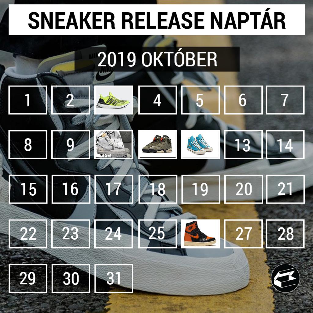 Sneaker Release Calendar – 2019 október