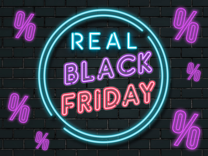 Real Black Friday - 2019. nov. 28. és dec. 2. között