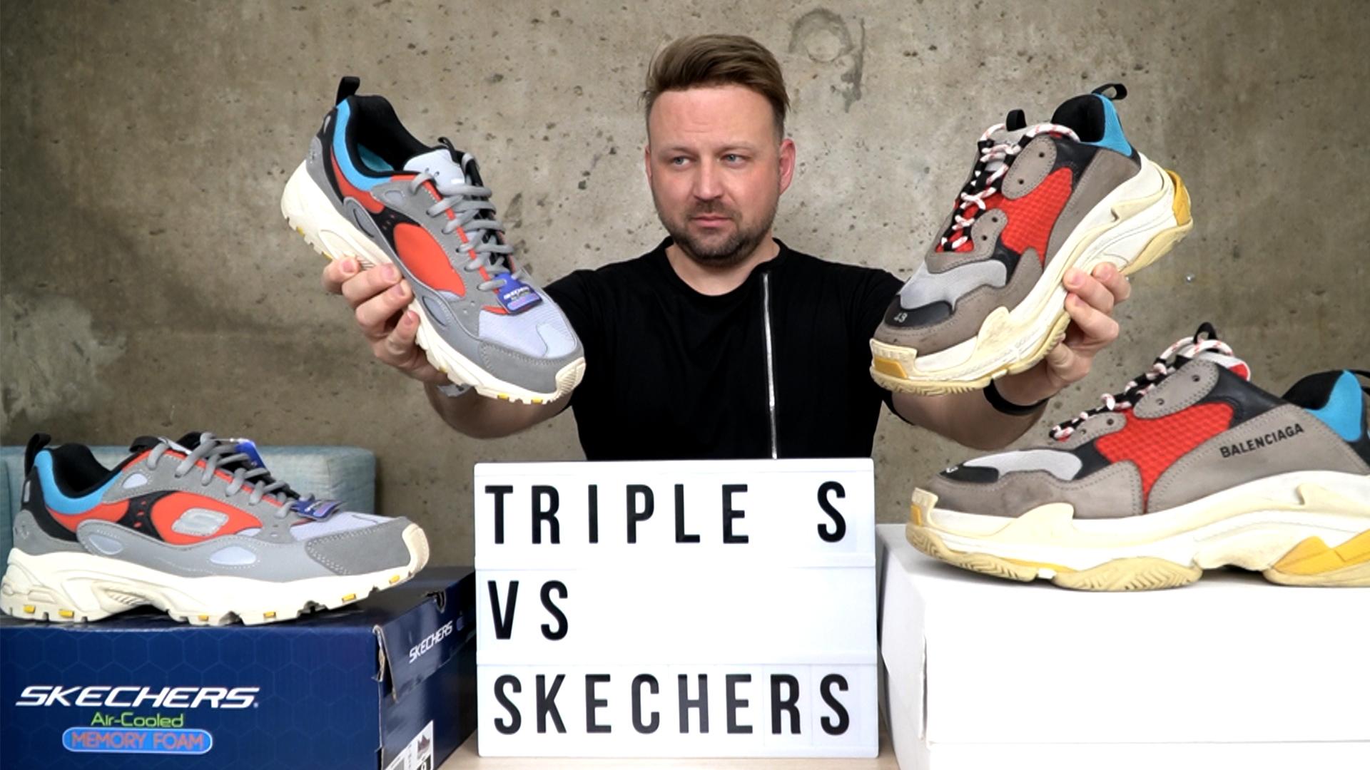 Balenciaga Triple S vs. Skechers Stamina Contic összehasonlitás