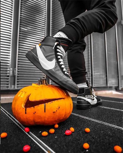 "Nike x Off-White ""Spooky Pack"" Blazer (Pumpkin)"