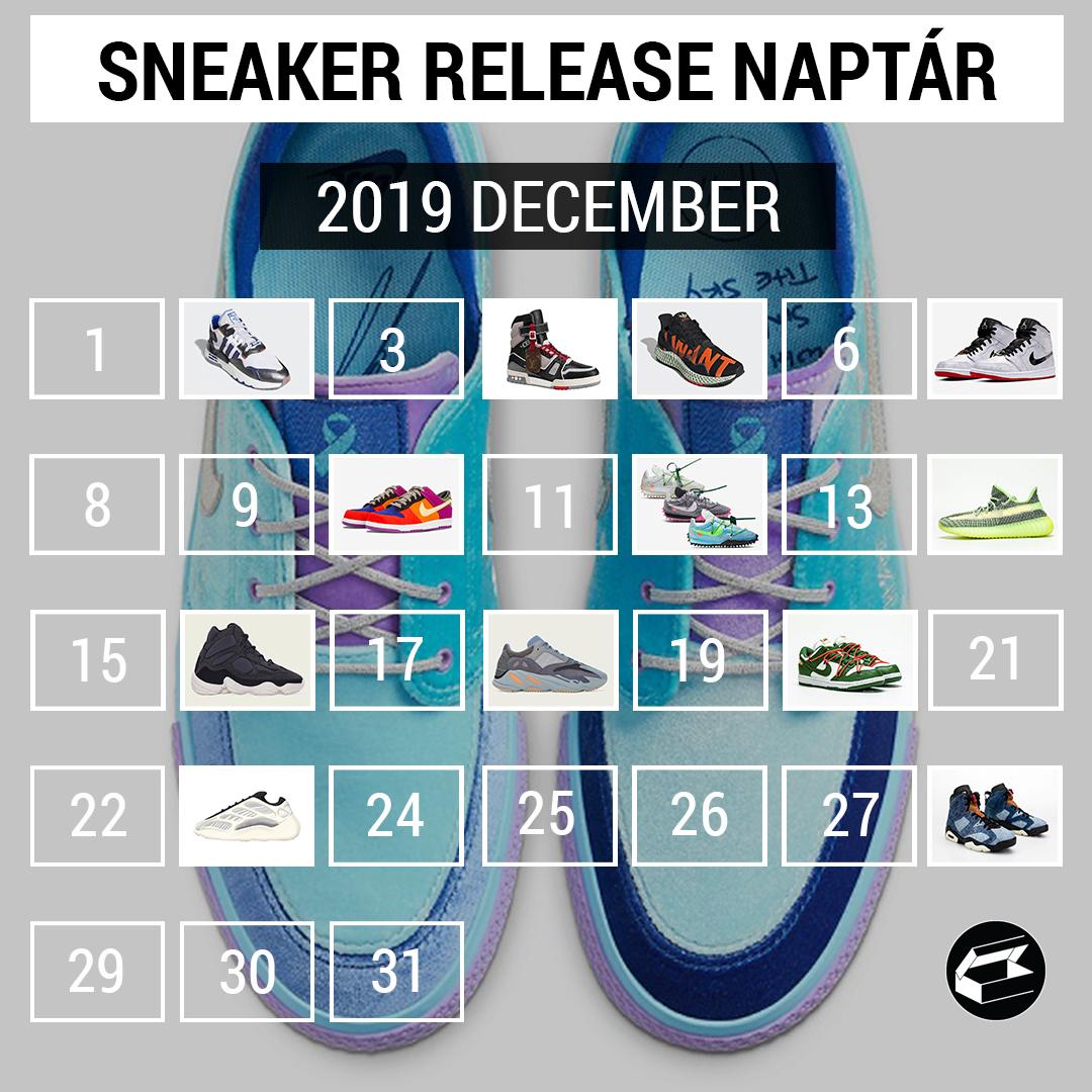 Sneaker Release Calendar – 2019 december