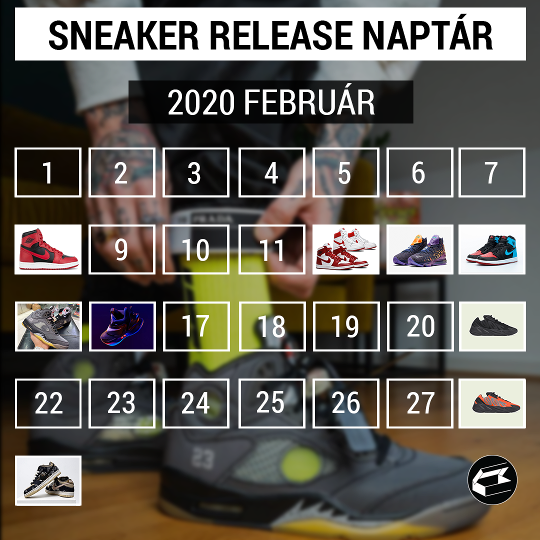 Sneaker Release Calendar – 2020 február