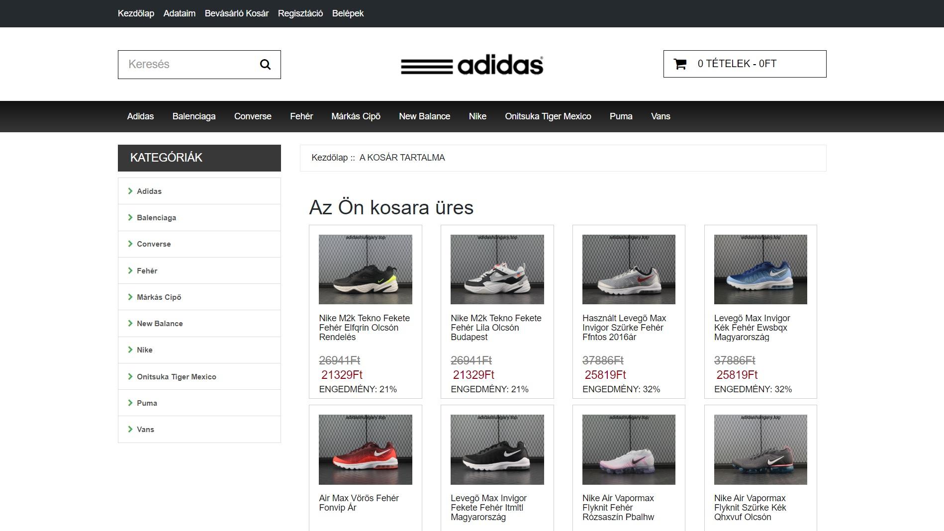adidashungary.top - vélemény, tapasztalat: eredeti vagy hamis cipő?