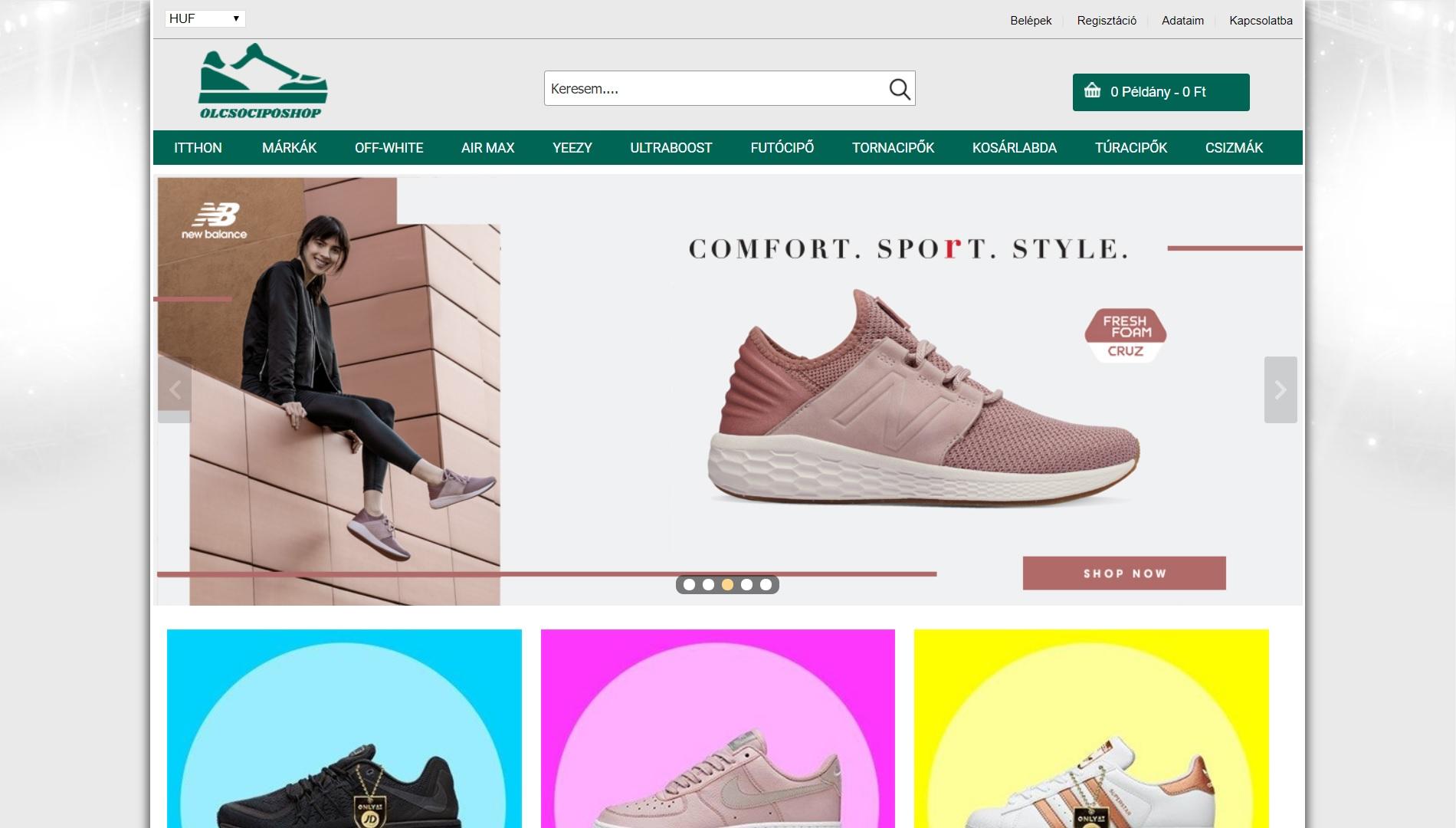 olcsociposhop.com - vélemény, tapasztalat: eredeti vagy hamis cipő? Kamushop?