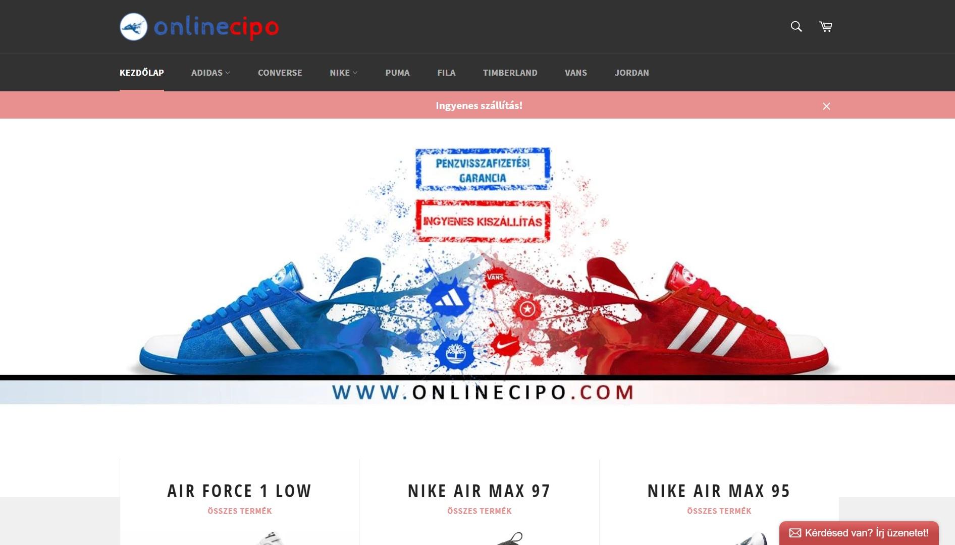 onlinecipo.com - vélemény, tapasztalat: eredeti vagy hamis cipő? Kamushop vagy nem?